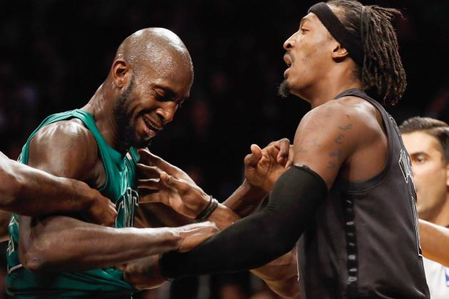 Garnett Reacts to Nets' Wallace After-Whistle Antics