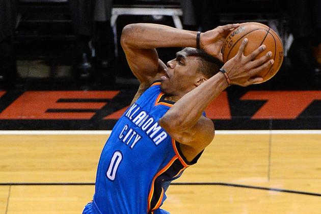 Russell Westbrook Upset by Hard Foul from Shane Battier