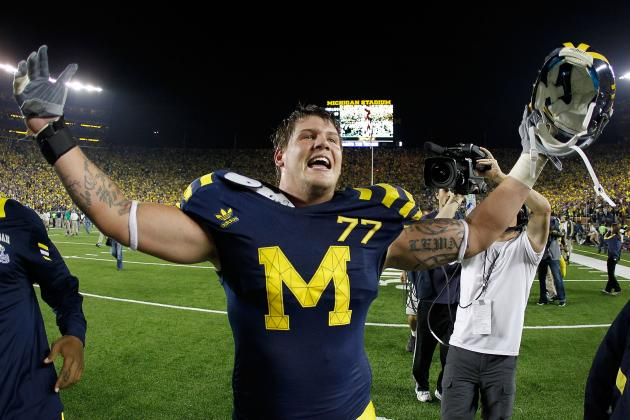 Michigan Football: Taylor Lewan's Draft Status Rides on Outback Bowl Performance