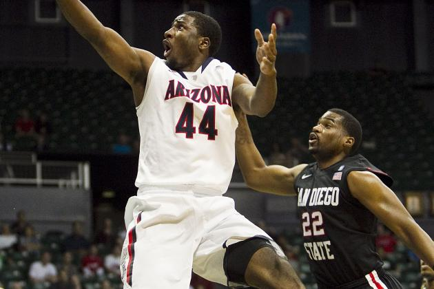 No. 3 Arizona 68, No. 17 San Diego St. 67