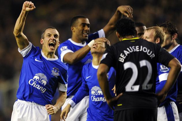 Everton 2-1 Wigan: Everton in top four