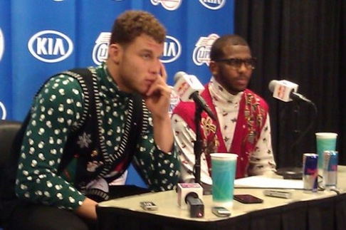 Clippers' Blake Griffin and Chris Paul Win Ugly Christmas Sweaters Award