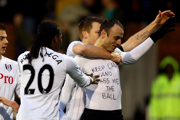 Fulham's Dimitar Berbatov Would Like You to Keep Calm and Pass Him the Ball