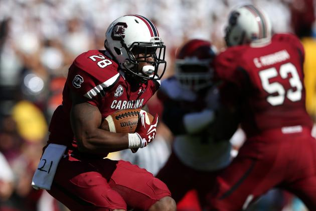 South Carolina True Freshman Running Back Mike Davis Learning as He Plays