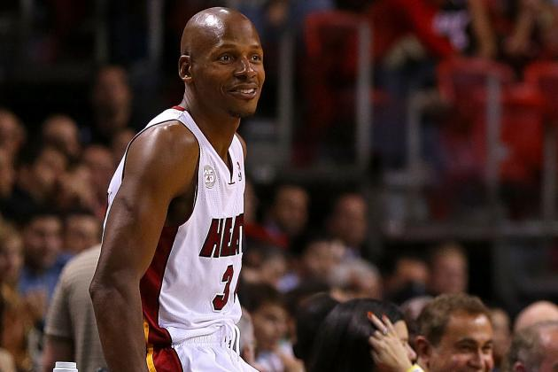 Ray Allen out vs. Bobcats Due to Shoulder Injury