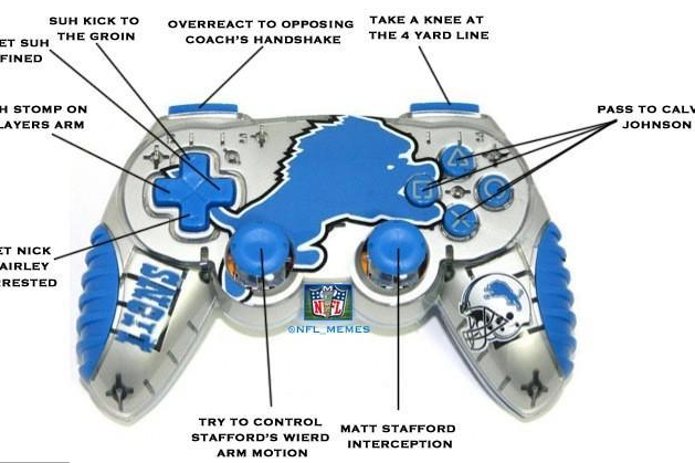 The Detroit Lions Madden controller.