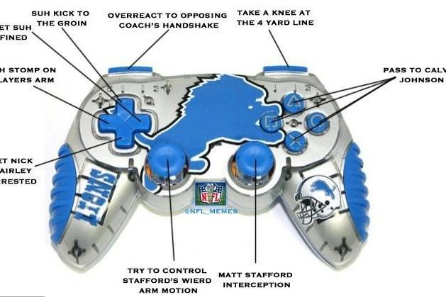 The Detroit Lions Madden controller.