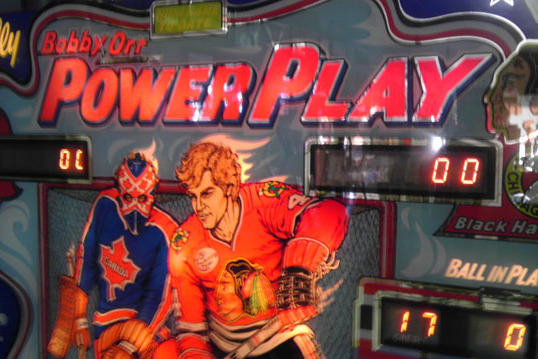 Awesome Bobby Orr Pinball Machine