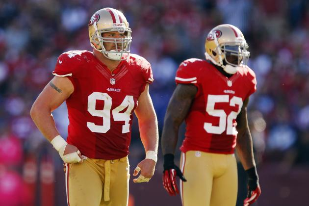 49ers Clarify Justin Smith's Injury, Hoping for Postseason Return