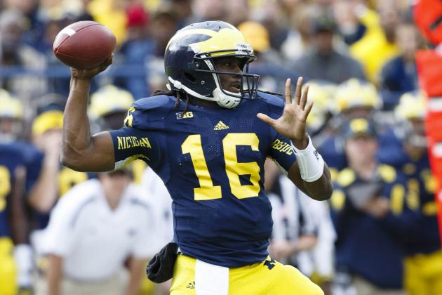 Michigan Football: QBs Robinson, Gardner Threaten Gamecocks in Outback Bowl