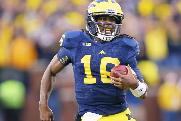 Outback Bowl 2013: Why Playing Michigan QB Denard Robinson at Corner Is Insane
