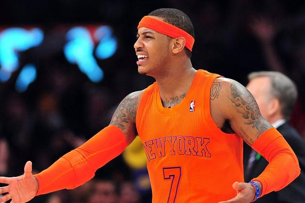 Melo Questionable vs. Kings