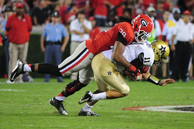 Jarvis Jones Has a Chance to Break David Pollack's Single-Season Sack Record