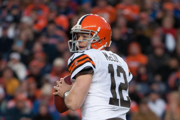 Browns QBs Brandon Weeden and Colt McCoy Still Idle with Shoulders