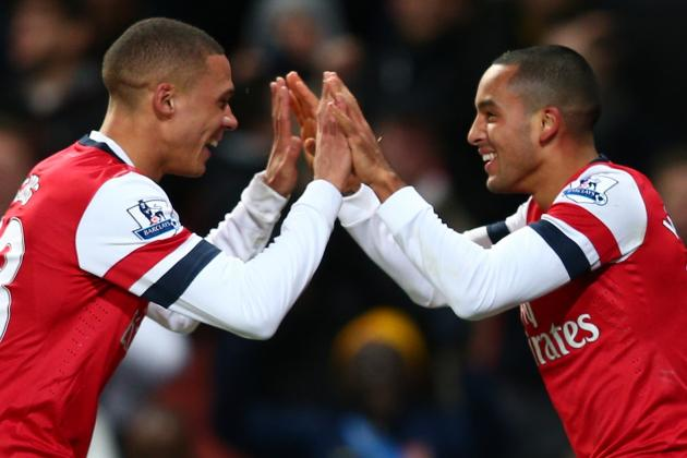 Arsenal 7-3 Newcastle: Walcott Treble