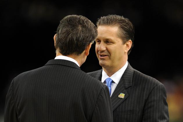 Calipari and Pitino agree that Kentucky is improving dramatically