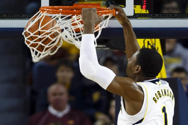 Trey Burke, Nik Stauskas and Glenn Robinson III Go Bonkers in Michigan Victory