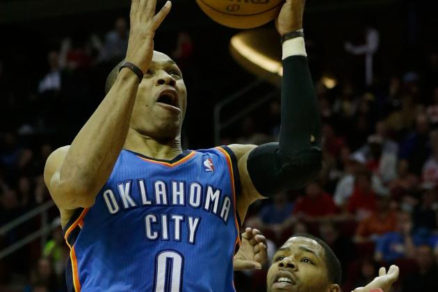 Westbrook, Durant power Thunder past Rockets