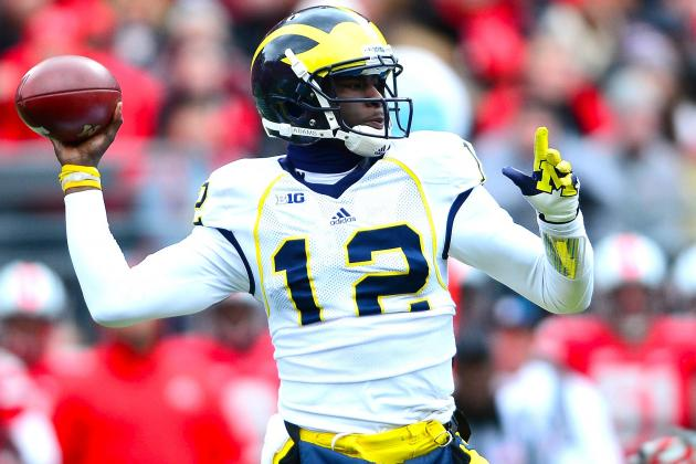 Devin Gardner, Not Denard Robinson, Will Start Outback Bowl at QB for Michigan