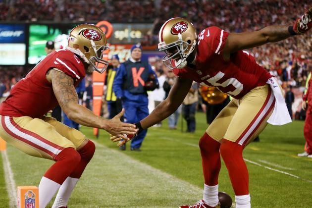 Crabtree, Kaepernick Set Career Highs in Division-Clinching Win