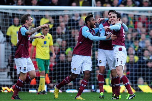 EPL: Hammers Down Canaries at Home Thanks to Controversial Penalty