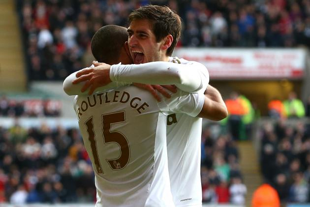 Swansea City's Danny Graham Strikes at the Last to Deny Aston Villa