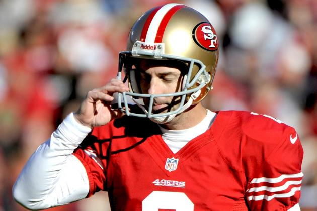 David Akers' Season Could Be Coming to an End After This Week's Tryouts