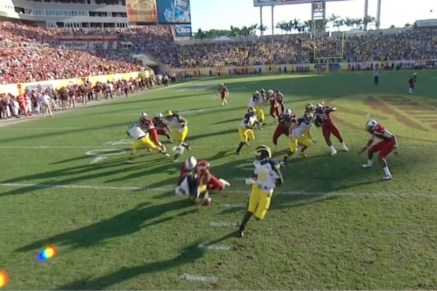 Outback Bowl: South Carolina's Jadeveon Clowney Delivers the Hit of Year
