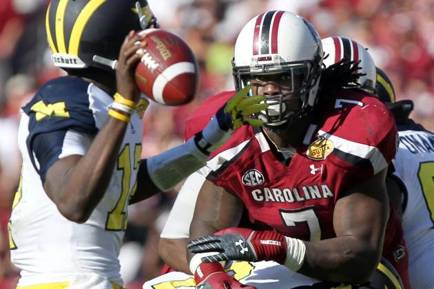Outback Bowl 2013: Jadeveon Clowney Could Dominate the NFL Right Now