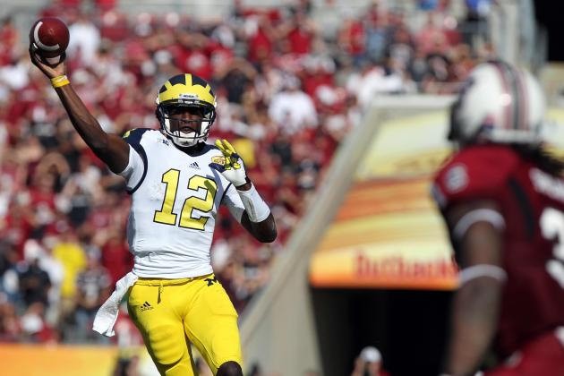 Outback Bowl 2013: Michigan QB Devin Gardner Shows He Still Has Long Way to Go
