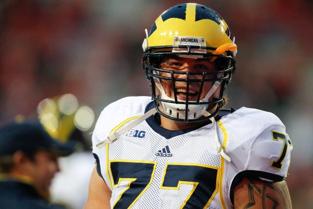 Outback Bowl 2013: Taylor Lewan Brightest Star for Michigan in Loss