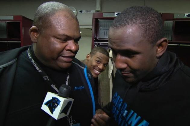 Cam Photobombs TV Interview