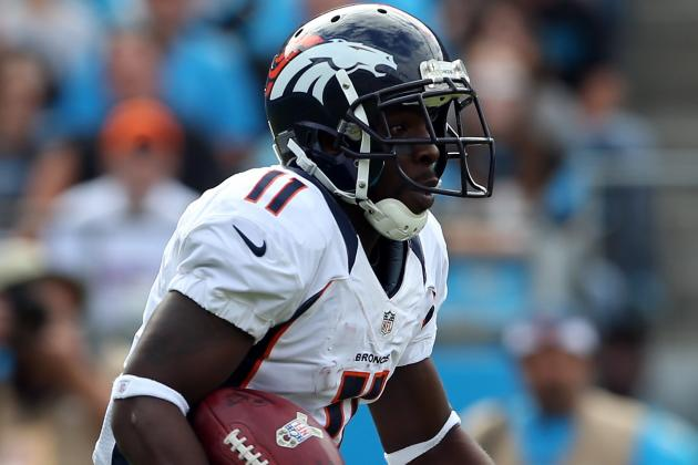 Broncos' Trindon Holliday Misses Practice Wednesday with Ankle Injury