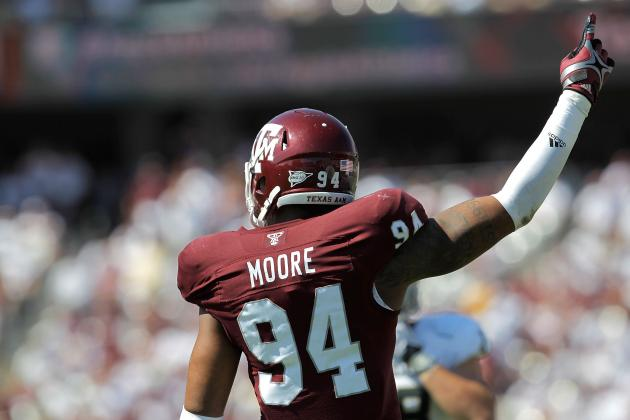 Aggies' Damontre  Moore Entering NFL Draft