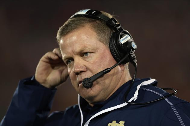 Brian Kelly Aims to Have Irish Relaxed