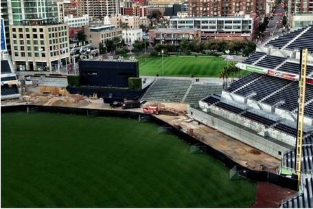 Photo: Petco Park Fences on the Move, Literally