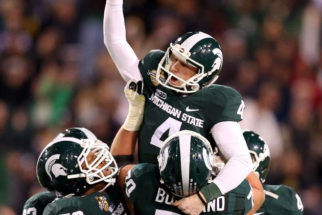 Michigan State vs. TCU: Spartans Pull off Upset in Buffalo Wild Wings Bowl
