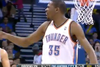 Durant Earns First Career Ejection