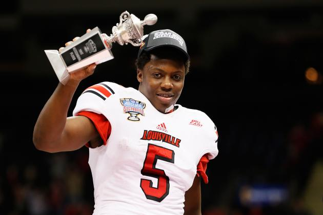 Bridgewater Leads Louisville Past Florida, Makes Statement for 2014 NFL Draft