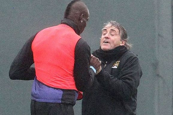 PICTURED: Balotelli and Mancini in Stunning Training Ground Bust-Up
