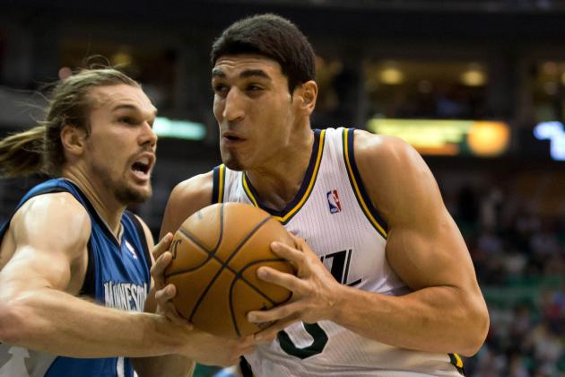 Jazz's Kanter Doubtful for Game at Phoenix