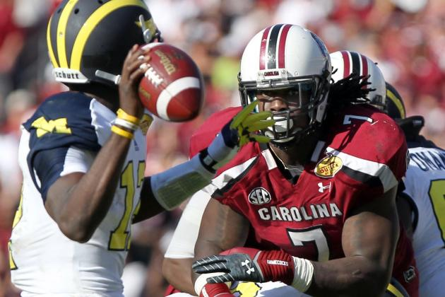 Jadeveon Clowney's Monster Hit Leads to Wikipedia Change, Legendary Status