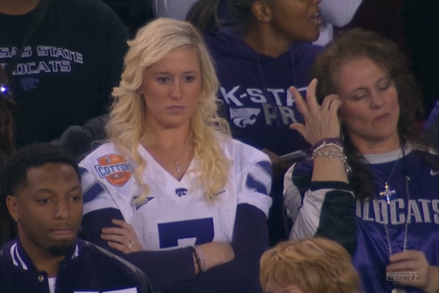 Collin Klein's Wife Shalin Klein Steals Fiesta Bowl Spotlight