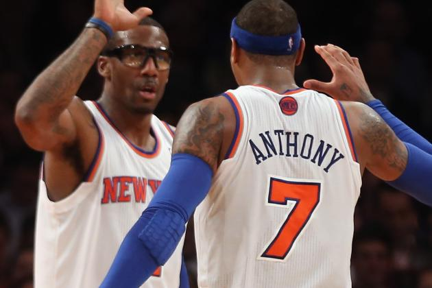 Melo Scores 23 as Knicks End Spurs' Win Streak