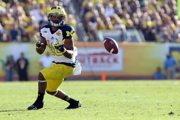 Michigan WR Jeremy Gallon Shows That He's the Real Deal in Outback Bowl