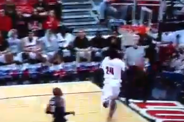 L'ville's Harrell Has Windmill Dunk Fail