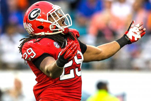 Georgia LB Jarvis Jones Enters NFL Draft