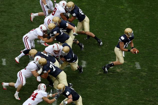 Irish O-Line Focused on Task at Hand