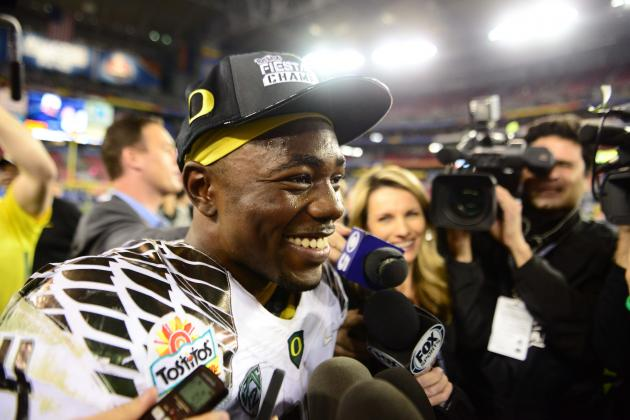 Seniors Michael Clay and Kenjon Barner (video)