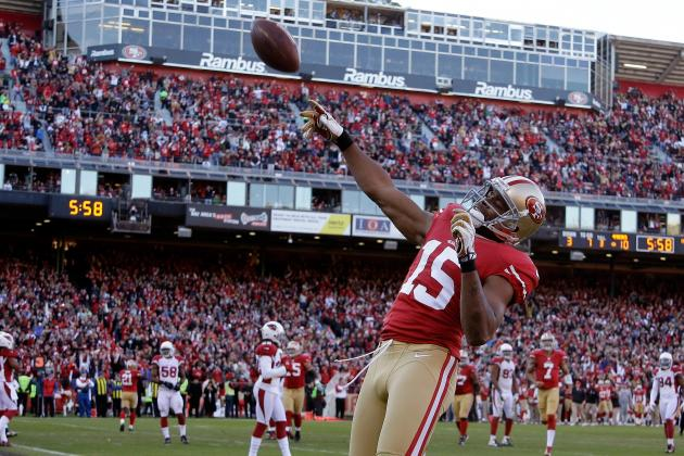 49ers Notes: Crabtree, Gore Fined for Celebration; Justin Smith Practicing